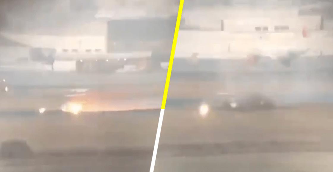 Se incendia aeronave en el Aeropuerto Internacional de Toluca