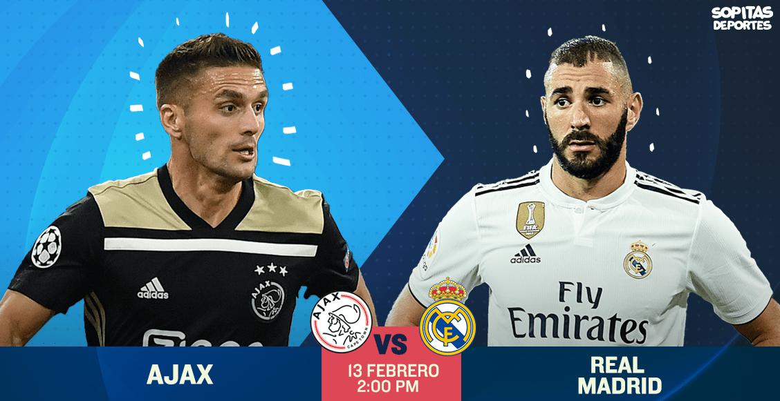 Ajax Vs Madrid: Ajax Vs Real Madrid Y Tottenham Vs Dortmund: Todos Los