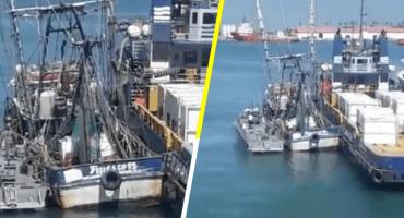 Y en Campeche, detienen un barco que presuntamente transportaba huachicol