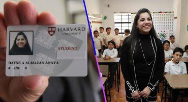 ¡Orgullo! Ella es Dafne Almazán, la mexicana que a sus 17 años ya estudia un posgrado en Harvard