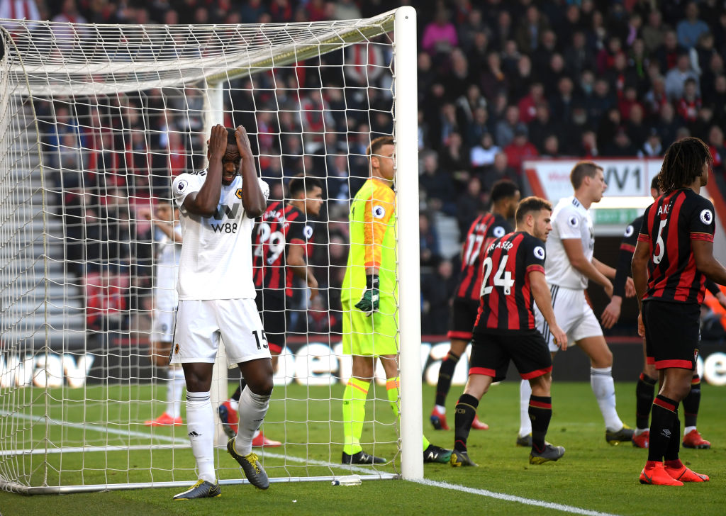 Raúl Jiménez no pudo evitar la derrota del Wolverhampton ante Bournemouth