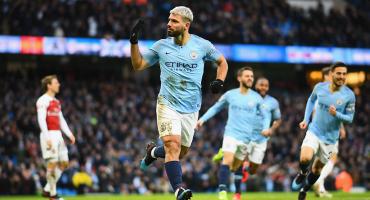 ¡Van los goles! Con hat-trick del 'Kun', el Manchester City venció al Arsenal