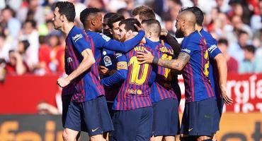 ¿Quién más? Con este hat-trick, Lionel Messi rescató al Barcelona en Sevilla