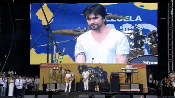 Juanes detuvo dos veces su concierto en Venezuela Aid Live por disturbios en el público