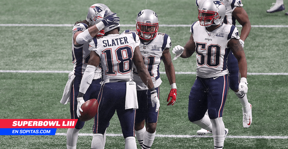 ¡En la cima! Patriots superan a Rams y son campeones del Super Bowl LIII