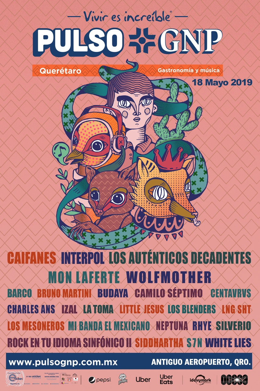 Caifanes, Interpol, Mon Laferte, Wolfmother y más en la segunda edición de festival Pulso