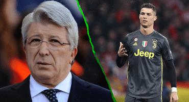 La respuesta del presidente del Atlético de Madrid a Cristiano Ronaldo