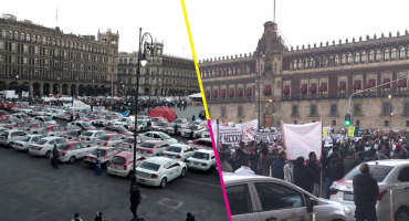 Taxistas de CDMX y EdoMex le caen al Zócalo para manifestarse, piden reunión con Sheinbaum