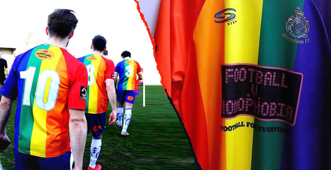 Conoce al Altrincham FC, equipo que luchó contra la homofobia en Inglaterra con uniforme arcoíris