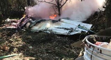 Se desploma avioneta en Atizapán y deja un saldo de dos muertos