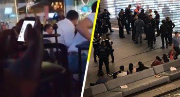 Video: Así se reguardan las personas de una balacera en una plaza comercial de Puebla