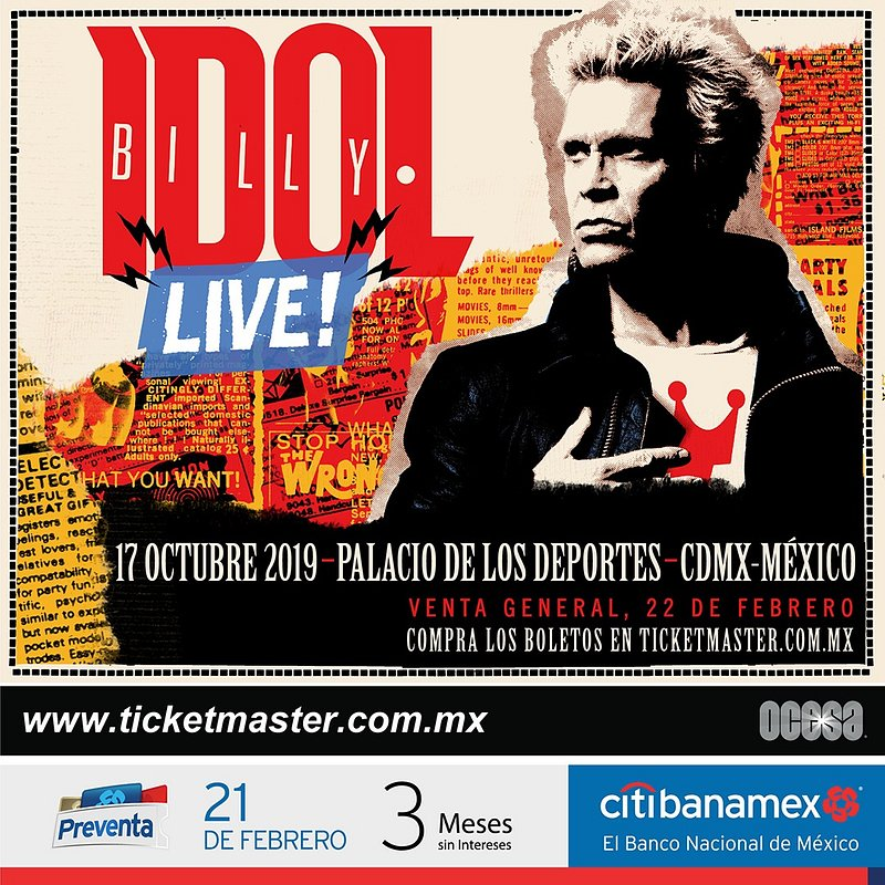 Dancing with myself! Billy Idol viene por primera vez a México
