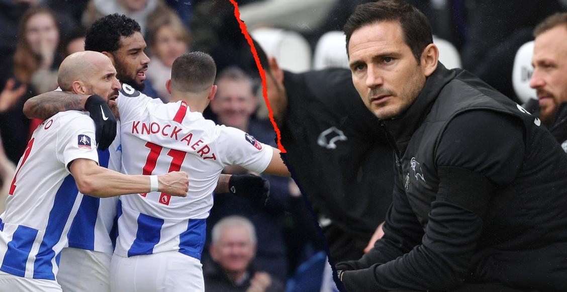 Lampard y el Derby Country se despiden de la FA Cup tras perder contra Brighton