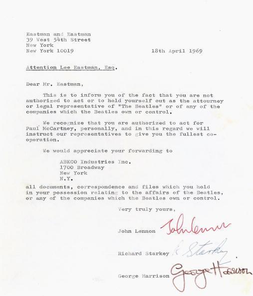 Cartas antes de la tragedia: Subastan cartas de The Beatles antes de su separación