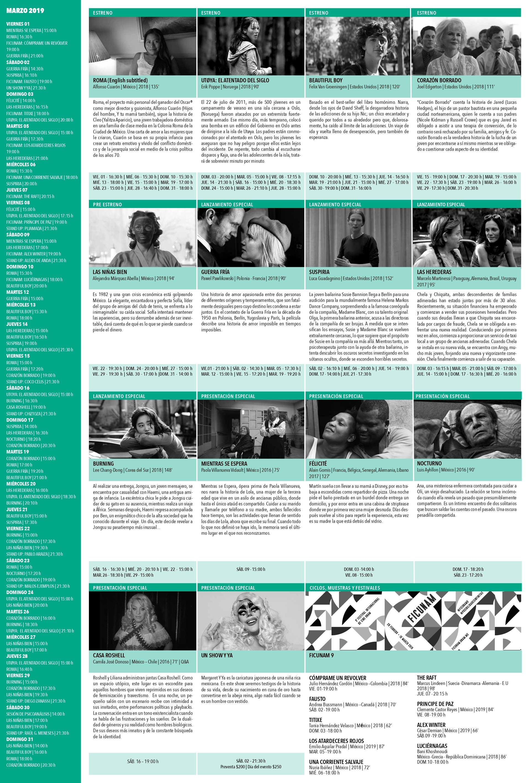 Para que lo agendes: ¡Ya llegó la cartelera de marzo de Cine Tonalá!