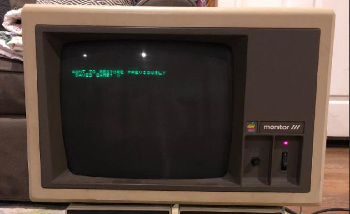 Computadora Apple IIe de hace 30 años