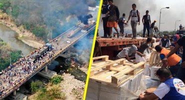 Las imágenes que muestran la crisis de la ayuda humanitaria en Venezuela