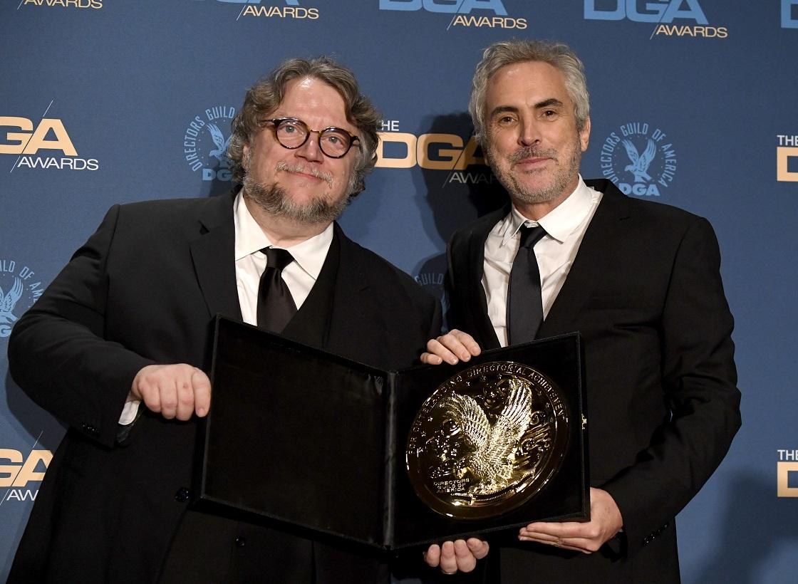 Alfonso Cuarón y Guillermo del Toro - Premios Oscar