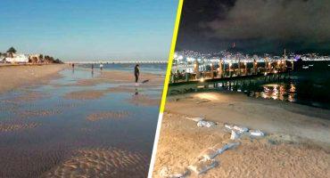 ¿Por qué el mar se alejó en las playas de Acapulco y Yucatán?