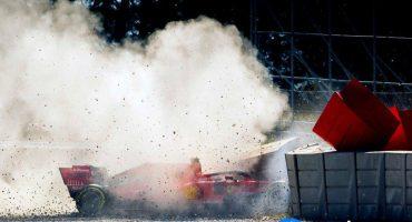 En imágenes: El accidente que sufrió Sebastián Vettel en las pruebas de Montmeló