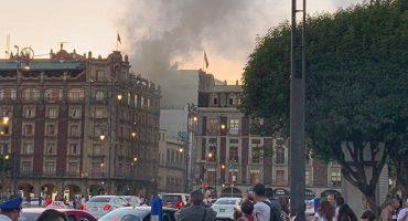 Se reporta incendio en un edificio del Centro Histórico de la CDMX