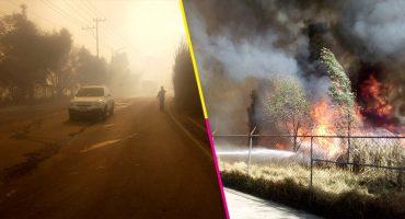 Imágenes y videos para dimensionar el incendió del pastizal en Xochimilco 😱🔥