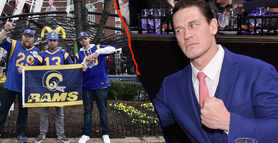 Fans de la NFL se 'comieron vivo' a John Cena por trollearlos con el Super Bowl