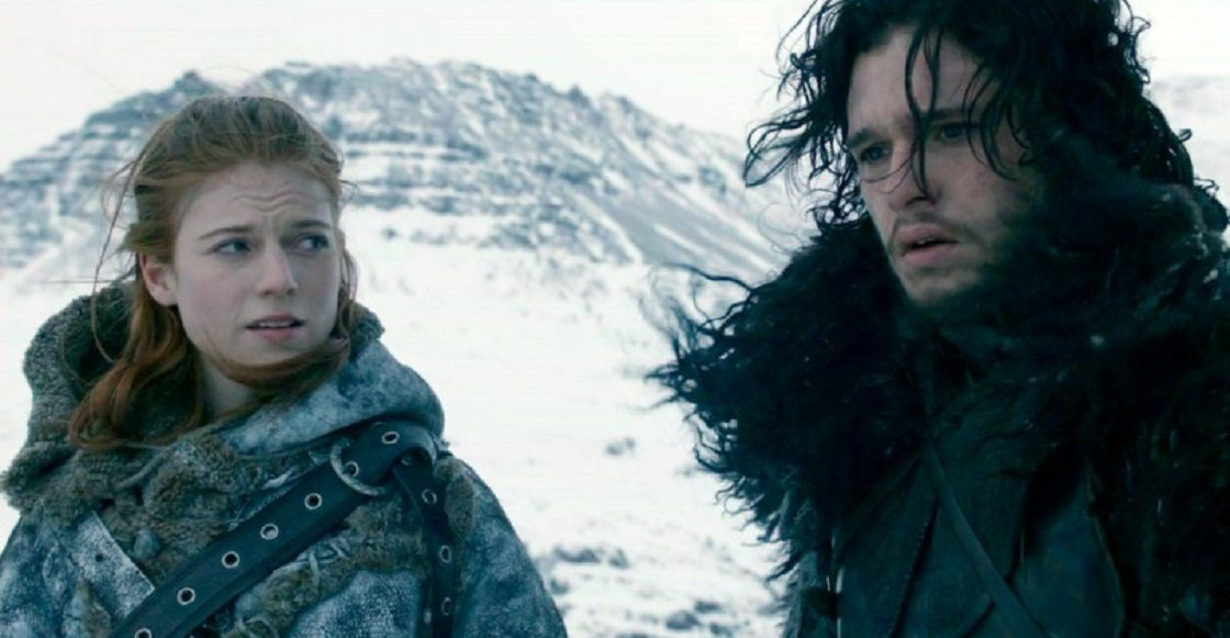 Jon Snow junto a Ygritte
