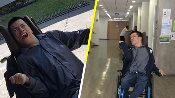 ¡Bravo! Un joven con parálisis cerebral será profesor en la UNAM
