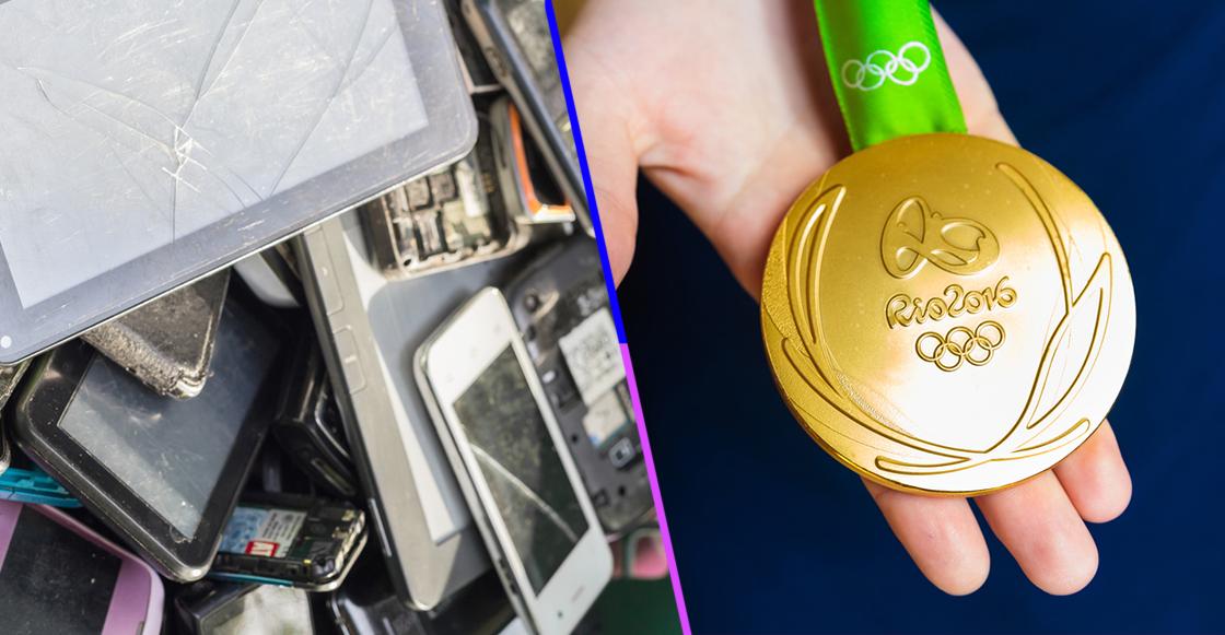Tokio 2020 tendrá medallas hechas con metales reciclados de desechos electrónicos