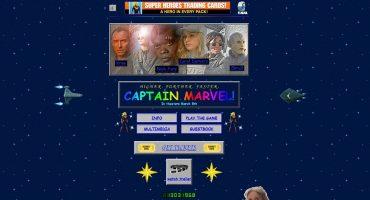 Captain Marvel tiene su propia web y es lo más noventero que hemos visto