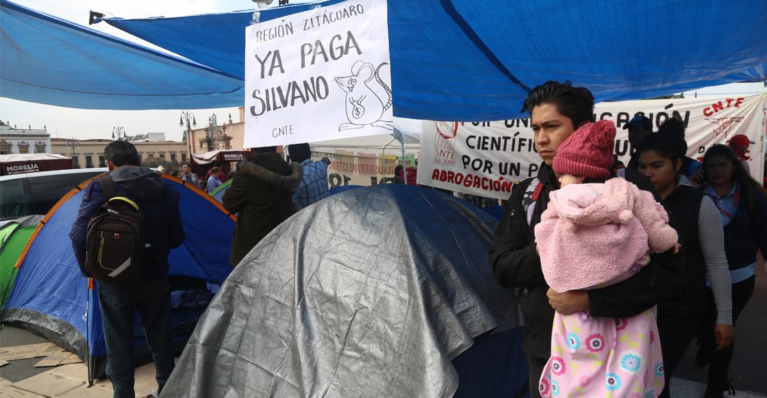 CNTE acuerda levantar plantón en Morelia y regresar a clases el próximo lunes