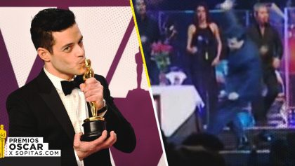 Rami Malek aplica un Juan Gabrielazo y cae del escenario de los Oscar 2019