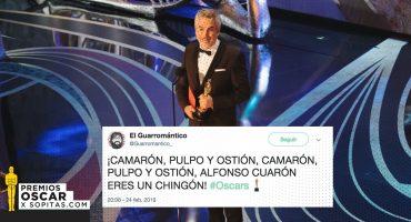 ¡Alfonso Cuarón se llevó tres Premios Oscar y así lo festejó México!