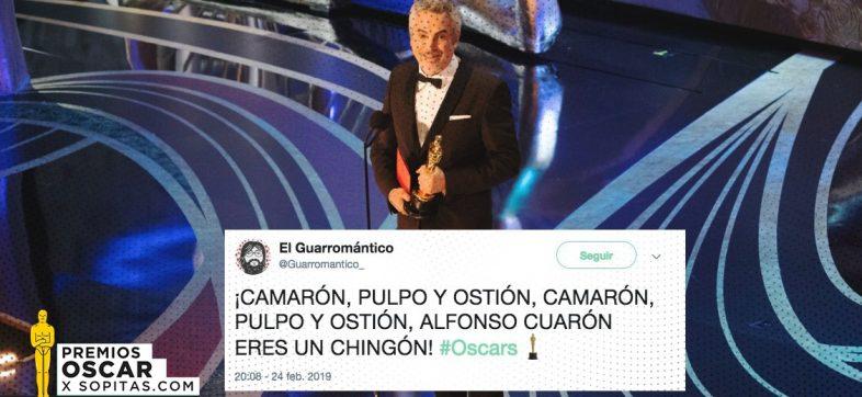 ¡Alfonso Cuarón se llevó Oscars y así lo festejó México!