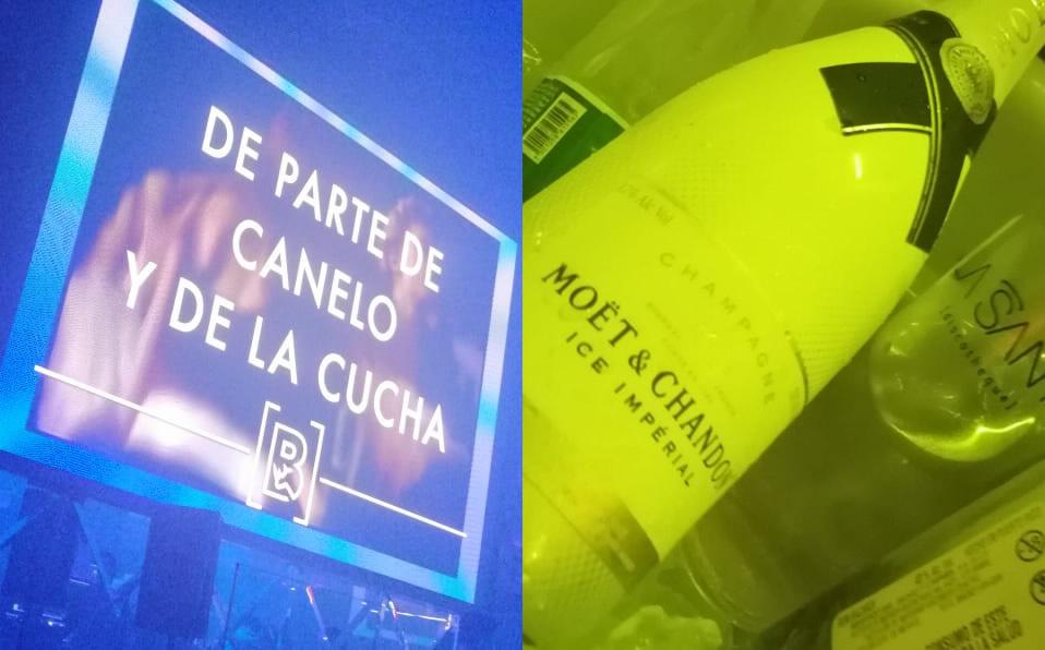 'Canelo' Álvarez armó la fiesta en un antro invitándole champagne a todos