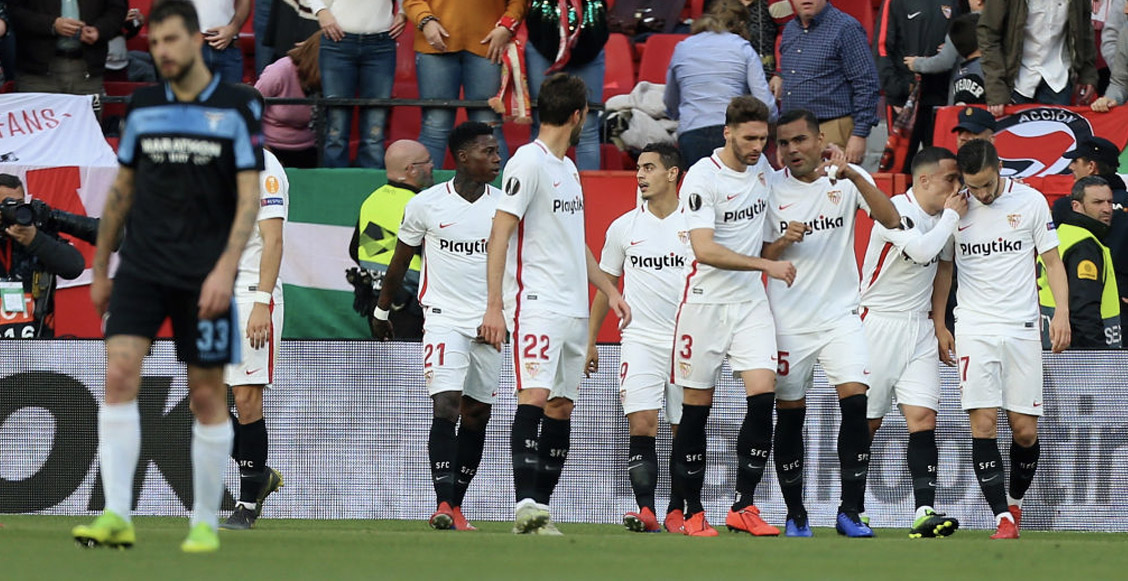 ¡Califican a 8vos! Sevilla eliminó a la Lazio de la Europa League