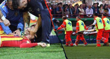 Suspenden partido en la Serie B por brutal caída de Manuel Scavone; quedó inconsciente