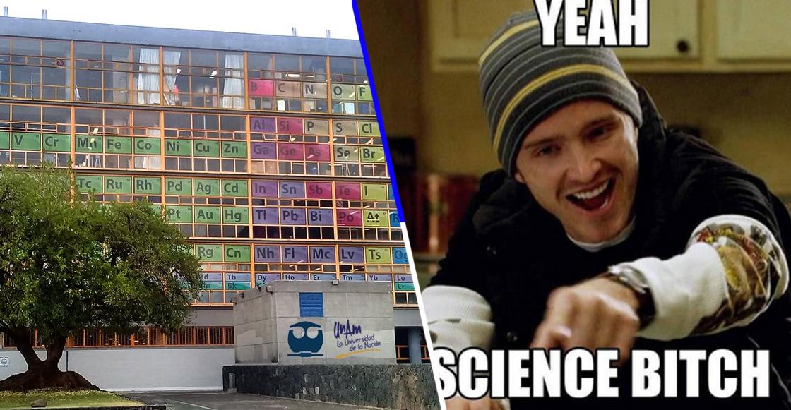 Nerdgasmo: Diseñan Tabla Periódica Monumental en la Facultad de Química