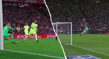 ¡Impresionanti! Ter Stegen evita el desastre del Barça con dos atajadones ante el Athletic