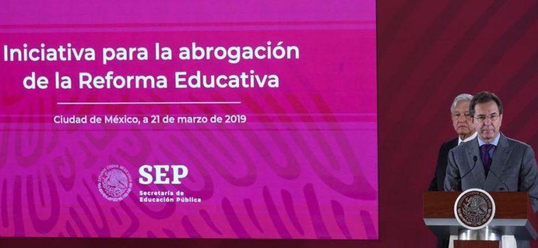AMLO y Esteban Moctezuma, SEP-reforma educativa