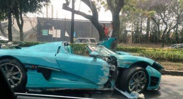 ¡Sale con Polish! Chocan coche de 30 millones de pesos en la Ciudad de México