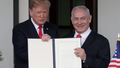 Trump desafía al mundo y reconoce la soberanía de Israel en los Altos del Golán