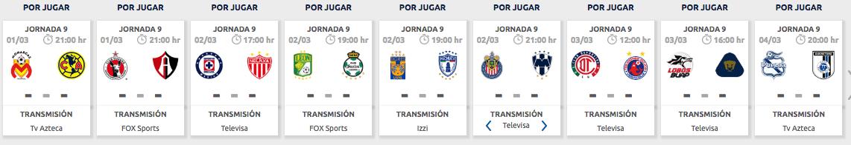 ¿Cuándo, dónde y cómo ver en vivo la Jornada 9 del Clausura 2019?
