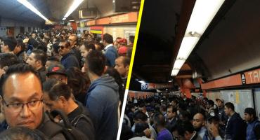 Una mañana caótica: reportan fallas en estaciones del Metro CDMX