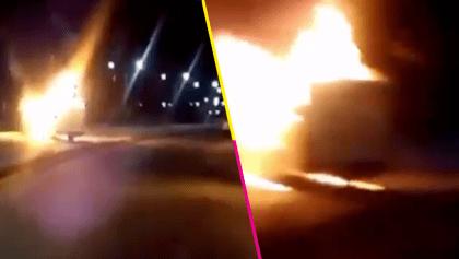 En Guanajuato, tras operativo en Santa Rosa de Lima, responden con bloqueos e incendios