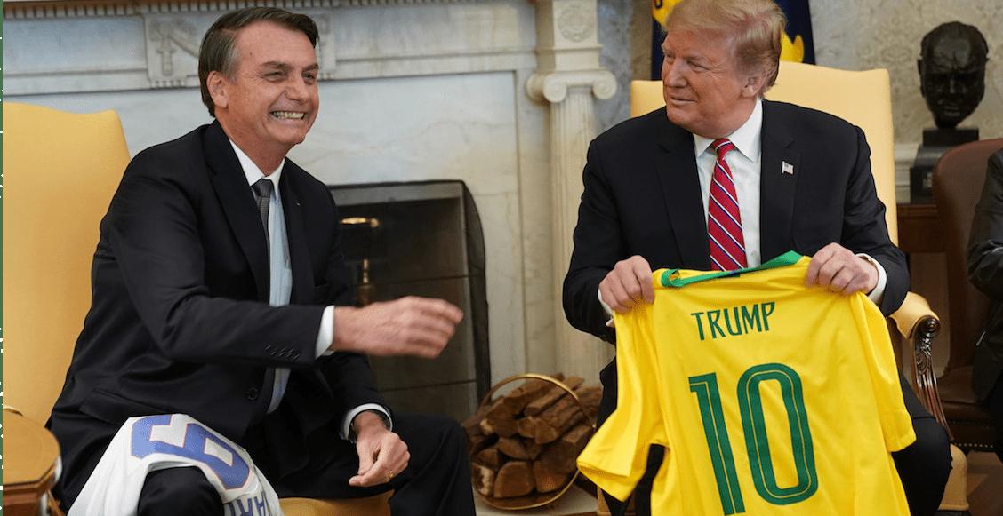 Tal para cual: 'Brasil y EUA nunca han estado más cerca', dice Trump a Bolsonaro