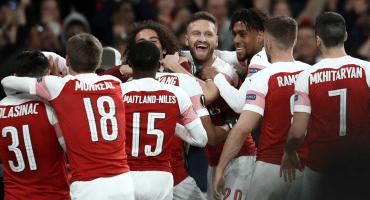 ¡Aubameyang y 10 más! Los goles de la remontada del Arsenal en la Europa League