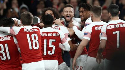 Los goles de la remontada del Arsenal en la Europa League
