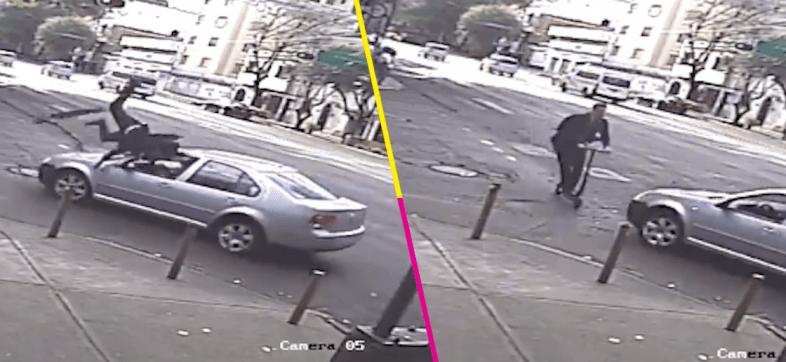 Usuario de scooter es atropellado por un automovilista en CDMX y surge el debate